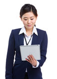 Business woman using digital tablet Royalty Free Stock Photo