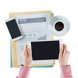 Business woman using a digital tablet Royalty Free Stock Photos
