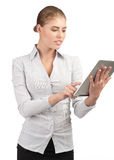 Business woman using electronic tablet Royalty Free Stock Images
