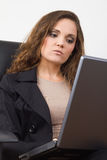 Business woman using laptop Royalty Free Stock Images