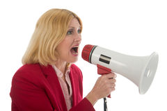 Business Woman Using Megaphone Stock Images