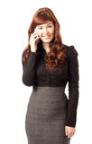 Business woman using mobile phone Royalty Free Stock Image
