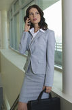 Business Woman Using Mobile Phone Royalty Free Stock Photography