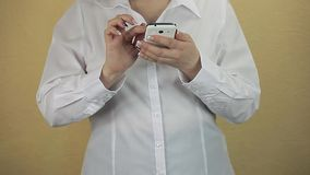 Business Woman using Mobile Phone stock video footage