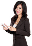 Business woman using mobile phone Royalty Free Stock Photos