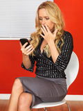 Business Woman Using a Mobile Telephone Royalty Free Stock Photo