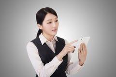 Business woman using pad Stock Image