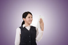Business woman using pad Royalty Free Stock Photos