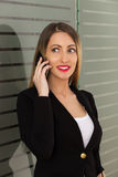 Business woman using phone Royalty Free Stock Photography