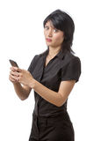 Business woman using phone Stock Photos