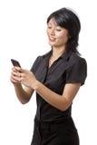 Business woman using phone Stock Photo