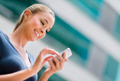 Business woman using a smart phone Stock Photos
