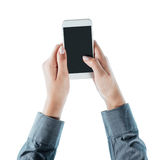 Business woman using a smart phone Royalty Free Stock Photography