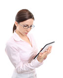Business woman using tablet Stock Photos