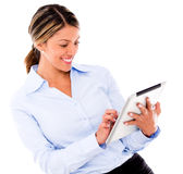 Business woman using a tablet Stock Photo