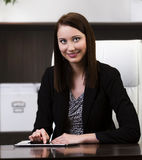 Business woman using tablet PC Royalty Free Stock Images