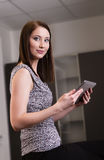 Business woman using tablet PC Royalty Free Stock Photo