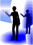 Business woman using touch screen Royalty Free Stock Photo