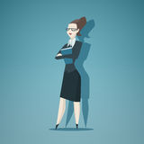 Business woman vector  Royalty Free Stock Image