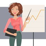 Business Woman. Vector illustration Royalty Free Stock Photography