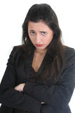 Business woman is very sad Royalty Free Stock Image