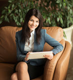 business woman. View very important documents. Stock Images
