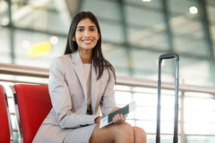 Business woman waiting Stock Images