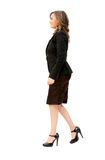 Business woman walking Stock Images