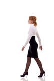 Business woman is walking stock photos