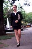 Business woman walking. Stock Photos