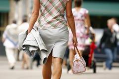 Business woman walking stock image
