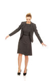 Business woman walking carefully. Royalty Free Stock Photos