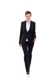 Business woman walking forward Stock Photography