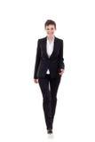 Business woman walking forward Stock Photography