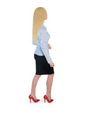Business woman walking side Royalty Free Stock Image