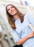 Business woman walking on the street Stock Image