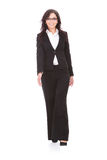 Business woman walks forward Stock Image