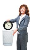 Business woman waste time Royalty Free Stock Photography