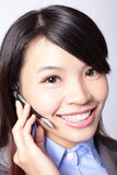 Business woman wearing headset Stock Images