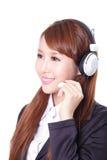 Business woman wearing headset Stock Photo