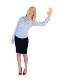Business woman welcome hand Royalty Free Stock Photography