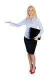 Business woman welcome Stock Image