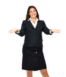 Business woman welcomes you Royalty Free Stock Photos