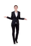 Business woman welcoming Royalty Free Stock Photo