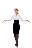 Business woman welcoming Royalty Free Stock Photos