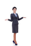 Business woman welcoming Stock Photo