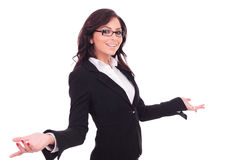 Business woman welcoming Stock Images