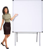 Business, Woman, Wetboard, Whiteboard, Isolated Stock Photography