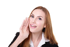 Business woman whisper Stock Image