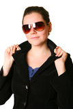 Business woman on white background Royalty Free Stock Photos